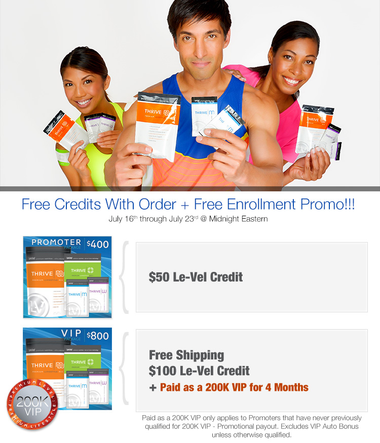 Free Credits With Order + Free Enrollment Promo!!!